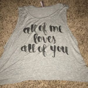 """Tops - """"All of me loves all of you"""" tank top"""